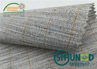 Heavyweight Garment Stretched Cotton Canvas Fabric / Horsehair Interlining For Suit