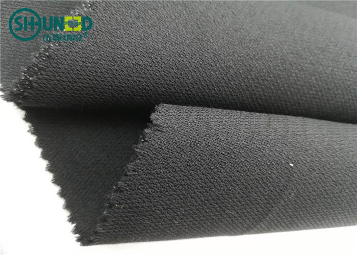 Medium Weight 76 Gsm Twill Woven Interlining Fabric With PA Double Dot
