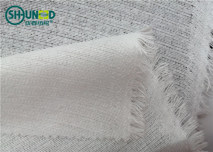 Knitted Woven Interlining Tricot Interlining For Fusing Garment / Leather